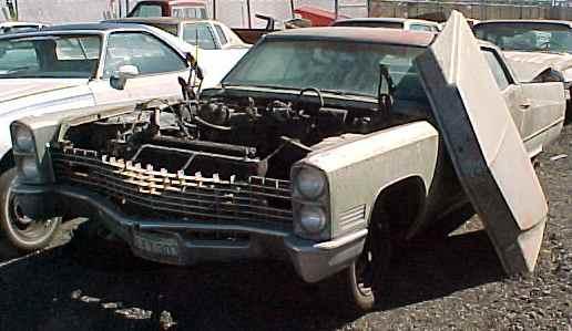 1967 Cadillac Calais - 4d, h/t, no engine, no trans, n-138