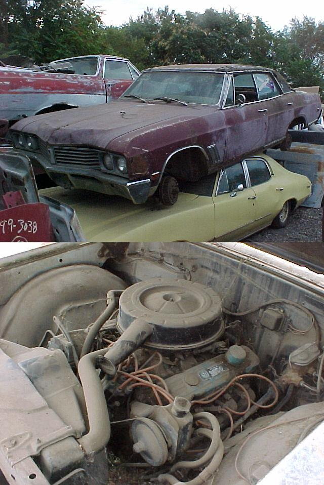 1967 Buick Skylark 4drt hrdtp, 340 V8, A/C, PS,PB Tilt column, Parts only.  n-253