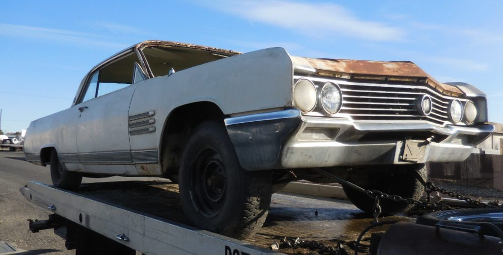 1964 Buick Wildcat 2 dr hardtop,  no engine or trans, windshield or door glass. Otherwise nice body, nearly rust free, nice chrome and diecast.  Parts Car. n-466