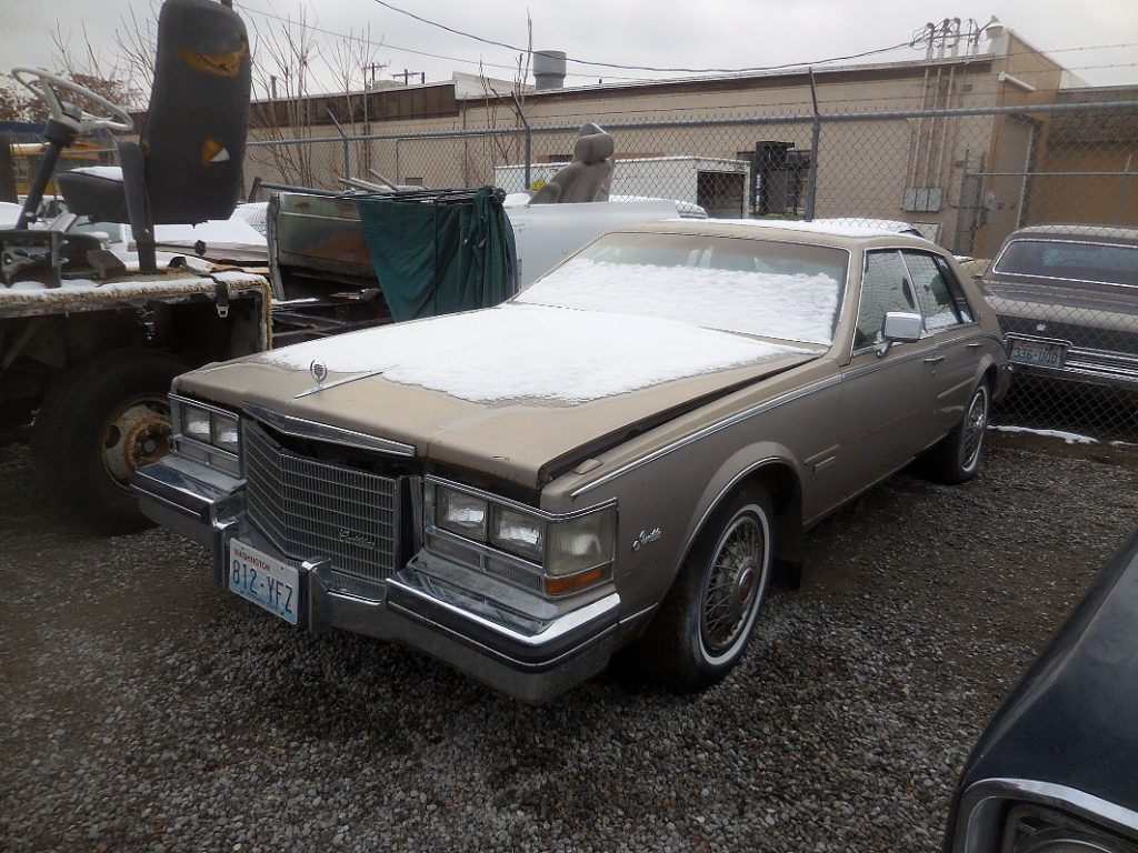 1984 Cadillac Seville,  4.9 Litre Cad V-8 fuel injected engine, all option, straight, not rusty, not running.  $950 n-473