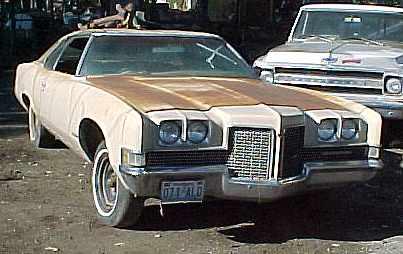 1971 Bonneville - 2d h/t, no engine, no transmission, good body, Parts car.  n-036