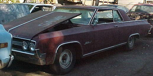 1964 Olds Jet Star I - 394 cid, dual exhaust, buckets, complete except console, nearly untouched original. $1,750.  n-064