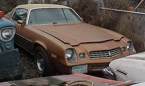 1978 Chevrolet Camaro LT - 350/TH350, tilt, AC, tach, gauges, rallys, not running. $1,350  n-183