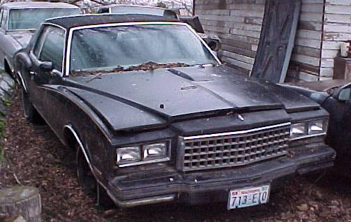 1979 Monte Carlo Turbo 231 V-6 Black on black, straight, original, complete, including TurboNot running, not rusty $1,325 n-218