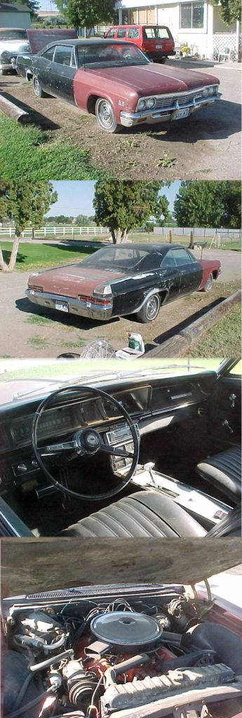 1966 Impala SS 396 TH400, 12 bolt posi, Climate Control A/C (Comfrontron) Tilt Telescopic Column, 4 mechanical gauge console, has rust in trunk but have replacement pan, comes with extra parts, $15,000 OBO Call 425.749.1229  n-260