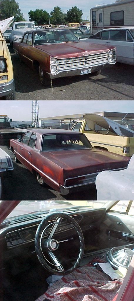 1967 Plymouth Fury II, 4 door sedan, V-8, Auto trans, Super Straight, no rust, very clean car, engine disassembled and in trunk with new parts. $1,200 n-264