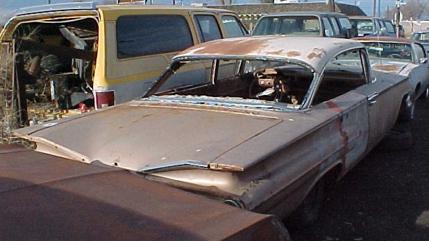 1960 Chev Belair 4 dr crudely made into a 2 door and never finished. No motor, no trans, no interior. Build it or use it for parts $1,200 as is or will part out.  n-276