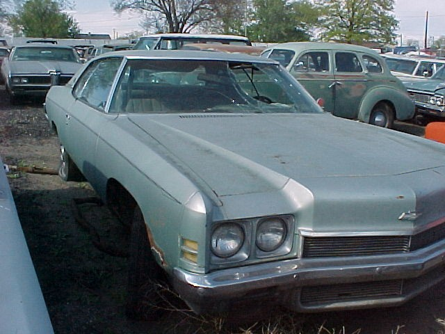 1972 Impala cusom 2 dr, complete less engine and trans. Good body and chrome, minor rear quarter rust, needs windshield $1,500  n-291 Sorry, this one is sold!