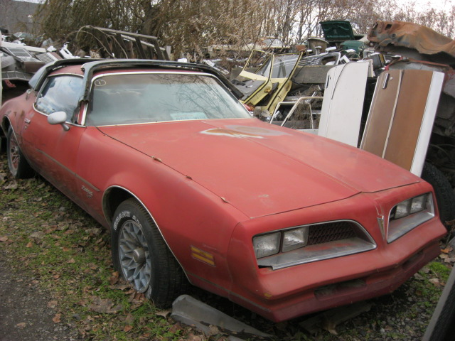 "1978 Firebird with factory ""Redbird ""package 305 Chev engine, Auto, tilt, snow flake wheels, runs OK, not rusty   $1,800  n-355"