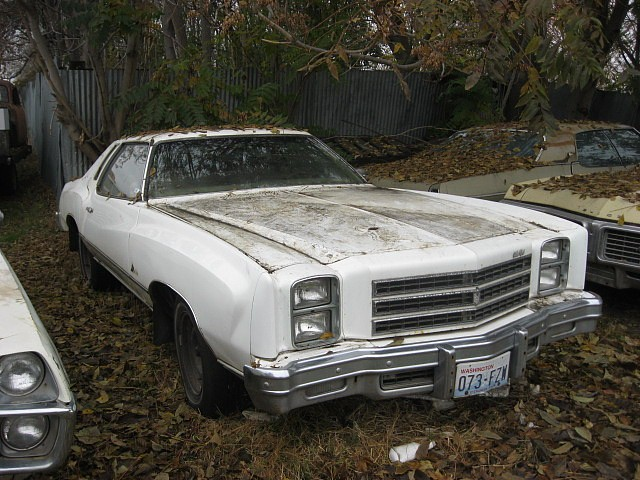 1977 Chev Monte Carlo  350 V-8, Automatic, A/C  runs poorly, straight but has quarter rust.   $1,250 n-403