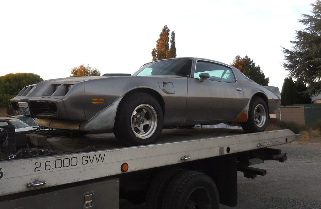 "1979 Trans Am, strong running rebuilt Pontiac 455 engine w/Turbo 400 trans, RARE 4 wheel disc brake option ( first year), posi rearend, tilt, A/C, power door locks, black interior, nice exhaust, includes original factory 15x8"" snowflake rims. Minor rear quarter rust.  $5,000  n-487  Sorry, this one is sold!"