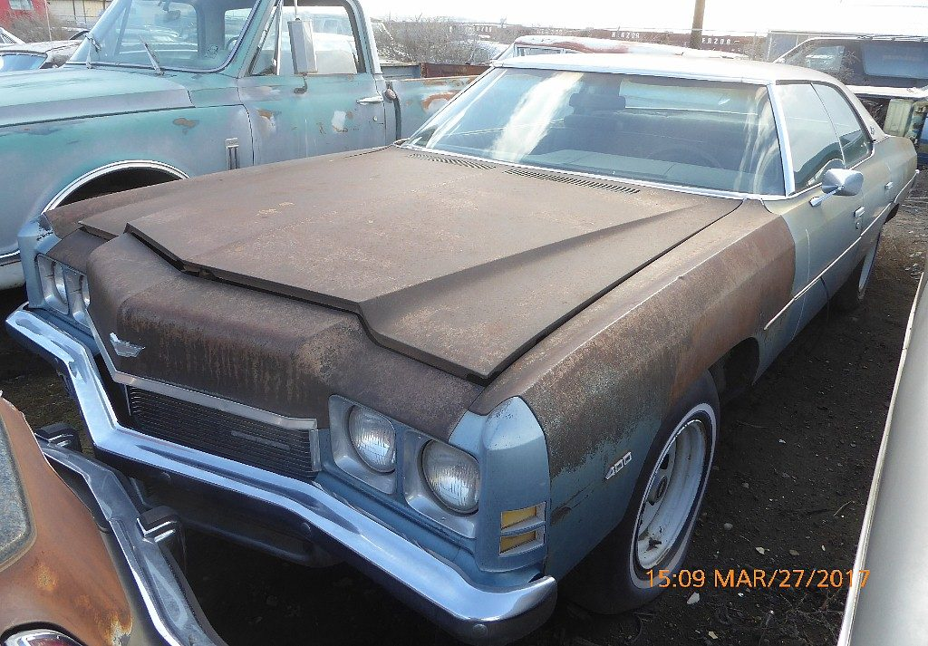 1972 Impala 4 dr hardtop.- Goodwrench 350, straight solid body, black interior Rally wheels. Runs and drives good.   $2,500  n-522