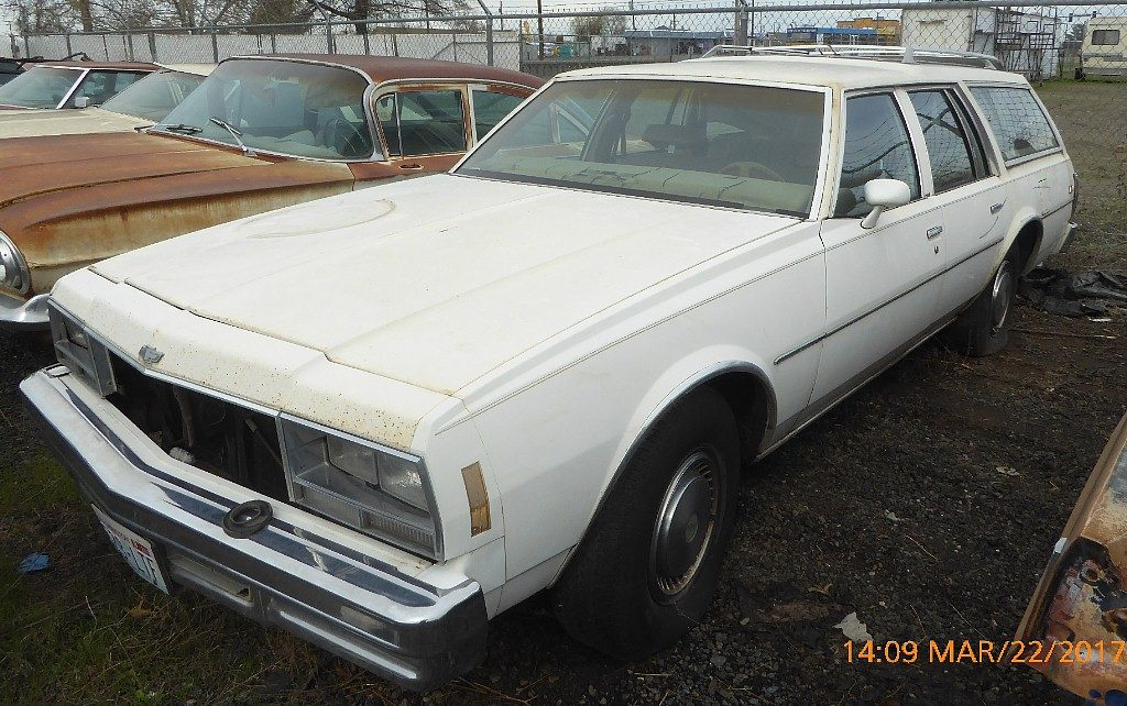 1978 Impala station Wagon - nice straight body, nearly rust free, complete and original, includes a good grille. V-8 engine Not running, $1,600  n-525