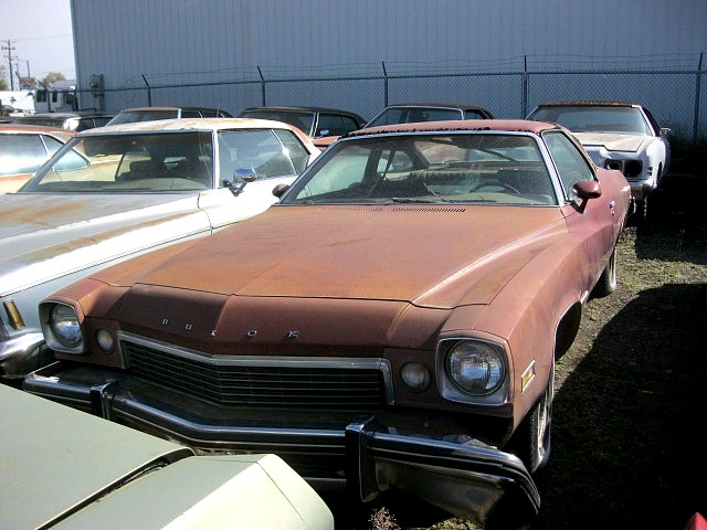 1974 Buick Century GS  350 4V Auto, A/C, power windows, factory gauges, AM/FM, Posi, rusty quarters, ran good 15 years ago.   $1,750  n-410