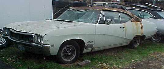 1968 Buick Skylark GS - AC, PB, PS, buckets, tilt, console, rallys, totally rusty, parting out.  n-002