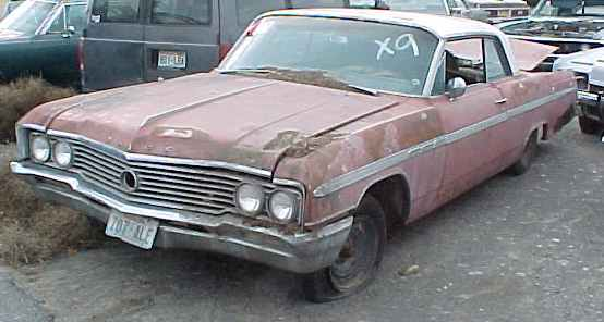 1964 LeSabre - 2d ht, no engine, no trans, otherwise complete, tilt, AC, PB, PS, good tinted glass.  n-046