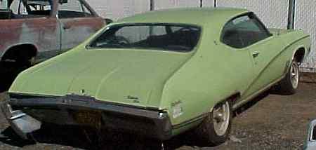 1969 Skylark Custom - 2d, h/t, AC, posi rear, no engine, rear LH damage.  n-140
