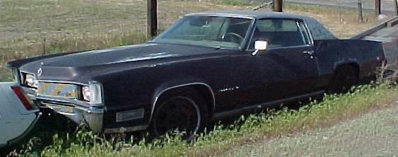 1968 Cadillac Eldorado, complete will run, typical load of options plus super low production bucket seat and console option. $3,000 n-220