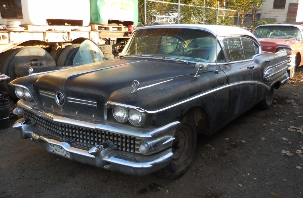 1958 Buick Super 4 dr Hardtop,  100% complete, original paint , straight body w/ minimal rust. Engine stuck.  $4,000 N-457 Sorry, this one is sold!