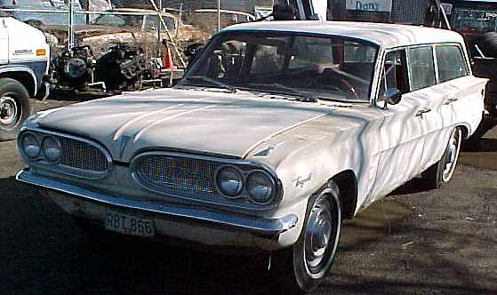 1961 Tempest wagon - slant 4 engine, AT, radio, 100% complete & original, might run. $2,250 n-018