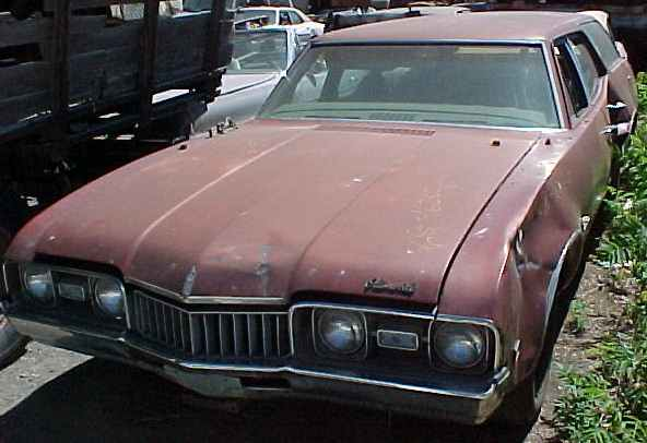 1968 Cutlass F/85 wagon - 350 V8, Rare 3 speed manual transmission, rough body, complete and original. $1,250  n-043