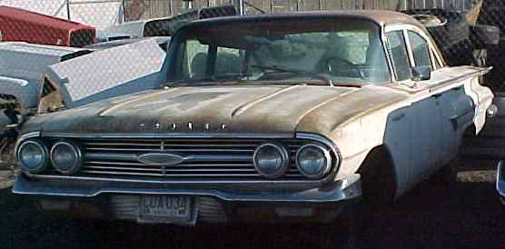 1960 Belair - 4d, no engine or trans, nice front end, dash and interior. $1,850  n-147