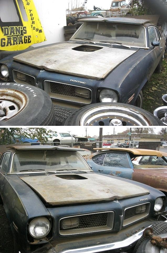 It's Back!  1974 Pontiac GTO hatchback, no engine or trans, otherwise complete. Bench seat 4 speed car, sport mirrors, nice grilles, minor rust. $2,500 n-216