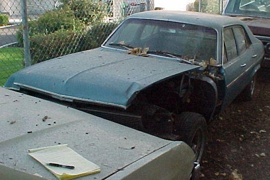 1971 Nova 4 Door 6 cylinder, Turbo 350, power steering. Has front-end damage, otherwise clean. $750. n-222