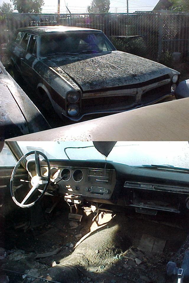 1967 Pontiac Tempest Custom Wagon, 326 with P/G, PS, PB, factory A/C, Super rough but mostly complete, parting out.  n-271