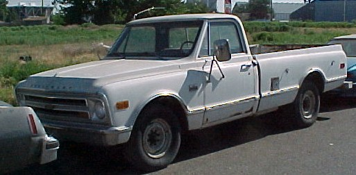 1968 Chevy 3/4 ton Camper Special  327 4 speed, power brakes and steering. Runs good, bad exhaust, no brakes  $1,500  n-282