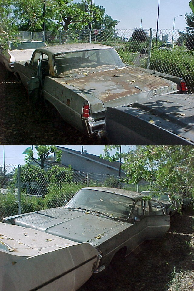 1963 Pontiac Catalina 4 dr, 389 2 barrel, automatic, power steering and brakes, underdash A/C, remote mirror, trunk release , flashers, rear antenna. super straight, original old car, not rusty, runs but smokes. $1,750  n-284