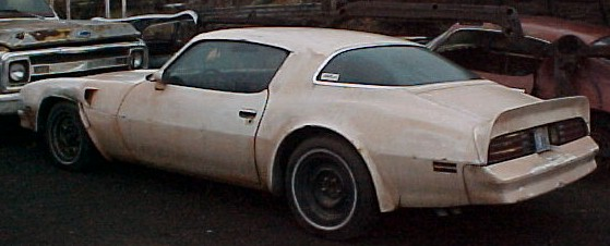 1976 Firebird Trans Am - 400 4 speed, posi rear end, tilt, A/C, power windows, tach, nice black interior. Has been disassembled but parts are still available.  n-292