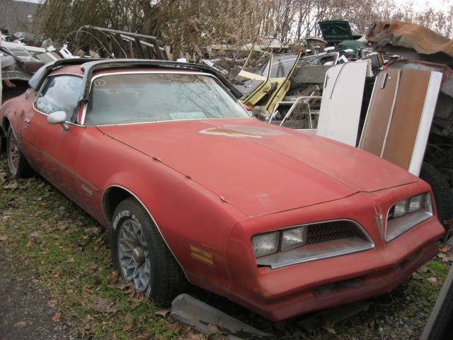 """1978 Firebird with factory """"Redbird """"package 305 Chev engine, Auto, tilt, snow flake wheels, runs OK, not rusty   $1,800  n-355"""