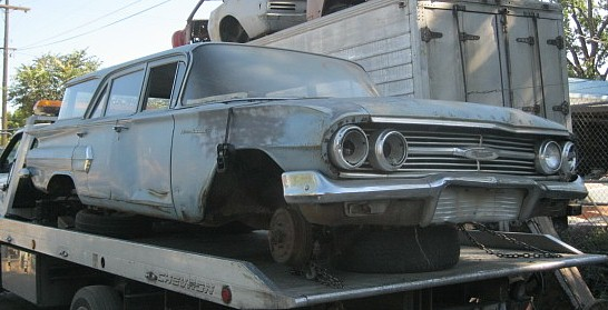 1960 Brookwood 4 dr wagon  no engine or trans, body rough but have lots of extra parts   $2,050  n-380