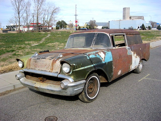 1957 Chev Sedan Delivery  283, Powrglide, Rough , rusty and rare.  $3,200  n-405  Sorry, this one is sold!