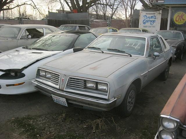 1978 Pontiac Sunbird,  3.8L Buick V6, auto, factory snowflake wheels, factory sun roof, runs and drives.  $1,350 n-424