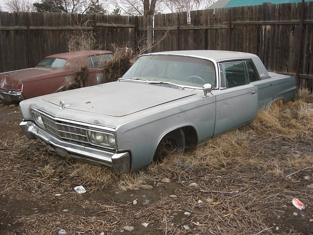 1966 Chrysler Imperial Crown Coupe.  Complete, rough but rare, might run, good parts car, 440 V8.  $1,500  n-430