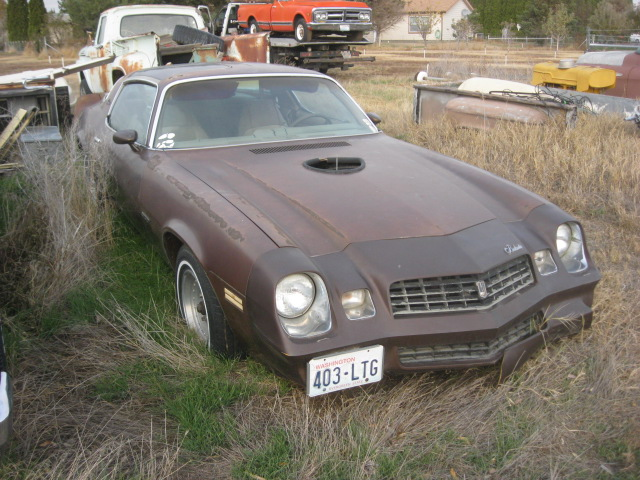 1979 Camaro Berlinetta,  V-8 auto complete, straight body ,not running.              $1,550   As is.  n-439 Sorry, this one is sold!