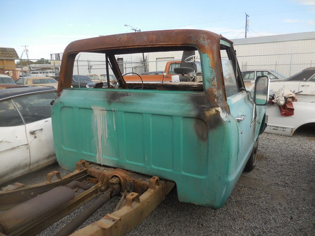 1972 Chev C-10 1/2 ton long bed, fire damaged, but mechanically sound, lot's of good parts.  n-476