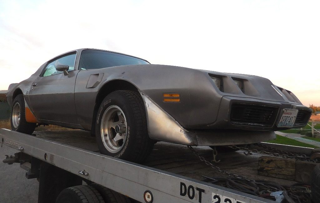 """1979 Trans Am, strong running rebuilt Pontiac 455 engine w/Turbo 400 trans, RARE 4 wheel disc brake option ( first year), posi rearend, tilt, A/C, power door locks, black interior, nice exhaust, includes original factory 15x8"""" snowflake rims. Minor rear quarter rust.  $5,000  n-487  Sorry, this one is sold!"""