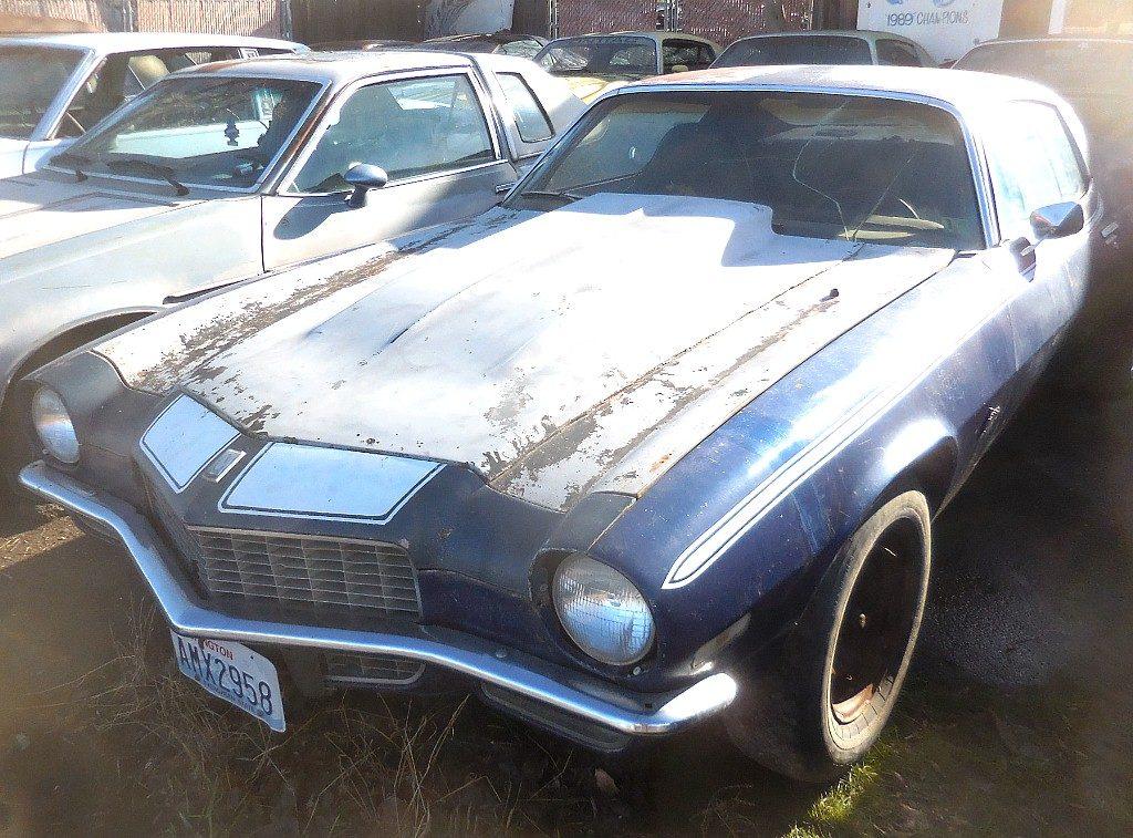 "1971 Camaro, 350 4 barrel, runs OK, Saginaw 4 speed, manual steering and brakes, needs rear quarters, rougher than a cob,  but it ""is what it is.""  $4,000  n-497 Sorry, this one is sold!"