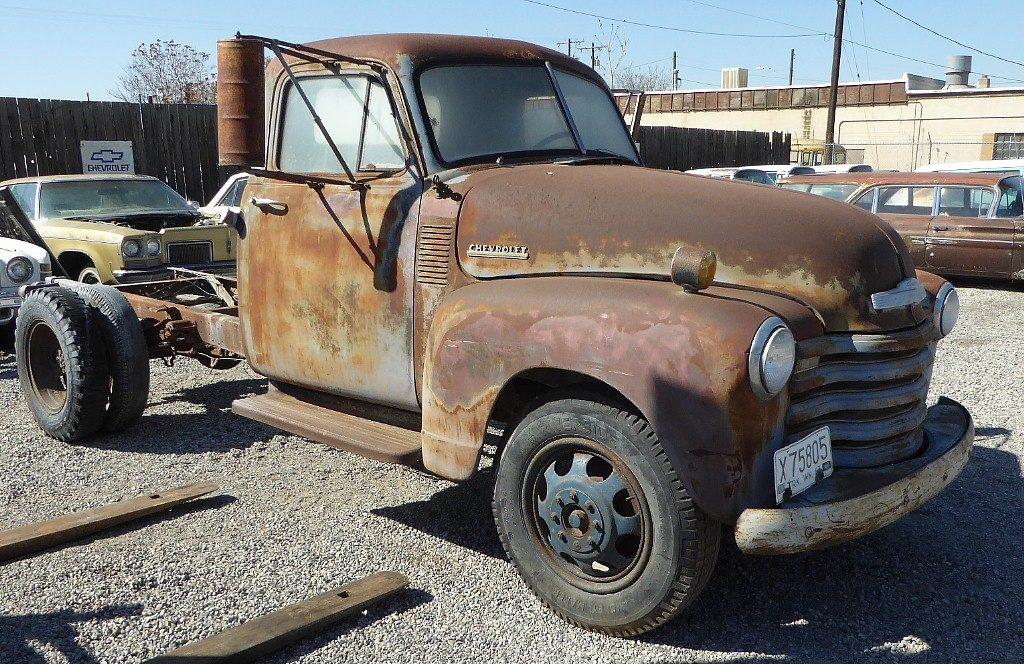 "1952 Chev One ton short wheelbase, 216, Granny 4 speed, correct 18 "" wheels, super original. $1,750   n-505"